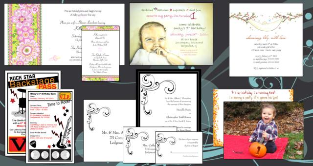 Custom Designed Printing and Invitations